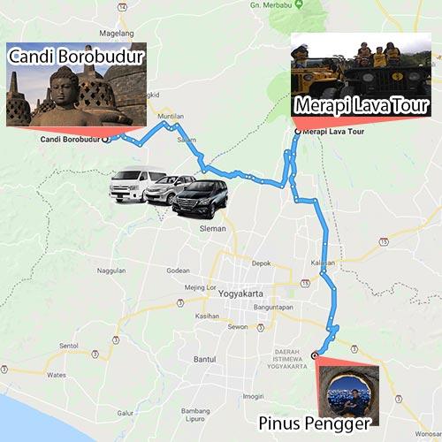 1D Trip Jogja Borobudur Merapi Lava Tour Pinus Pengger