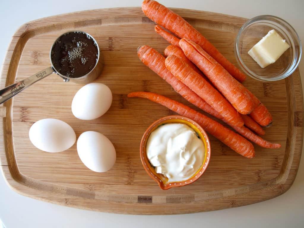 Carrot Souffle Ingredients | Mae's Menu