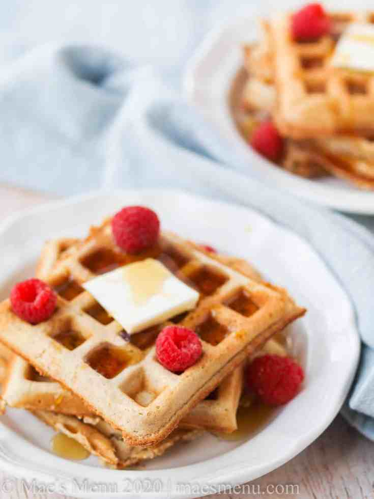 Fluffy Whole Wheat Belgian Waffles