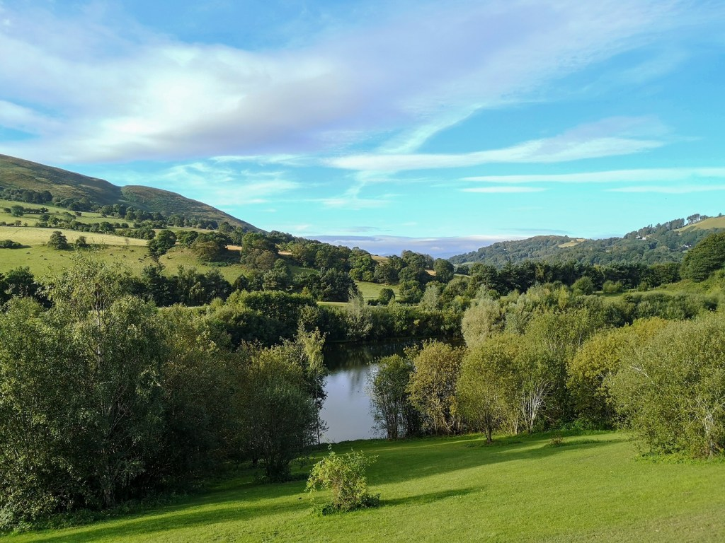 View from lodge pitches Maes Mynan Park
