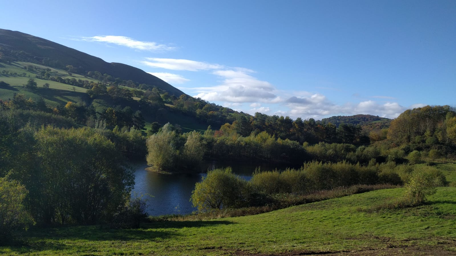Stunning magical views from lodge plots Maes Mynan Holiday Park