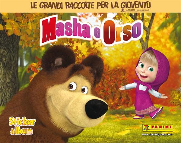 io e orso masha e orso album panini figurine compiti vacanze maestraemamma