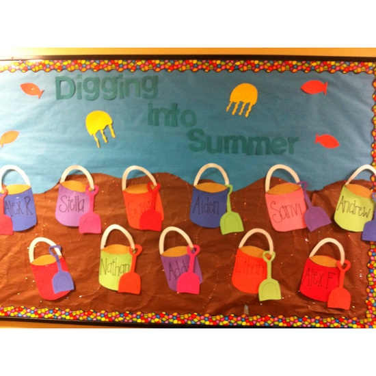 Digging-Into-Summer-Bulletin-Board-Idea