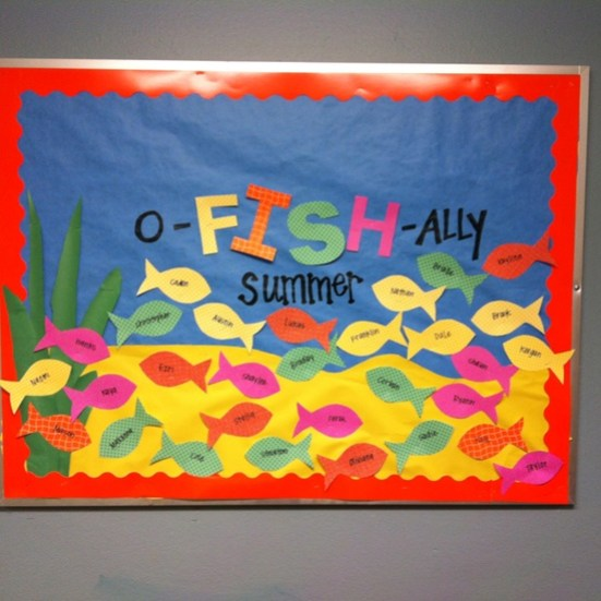 O-Fish-Ally-Summer-Bulletin-Board-Idea