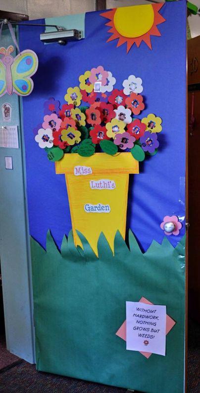 porte primavera decorazioni sezioni scuola infanzia asilo nido materna 1