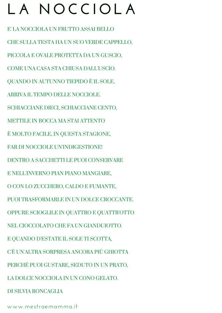 La Nocciola Poesia Per Lautunno Maestra E Mamma Parliamo Di