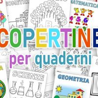 Copertine da stampare per quaderni - scuola primaria