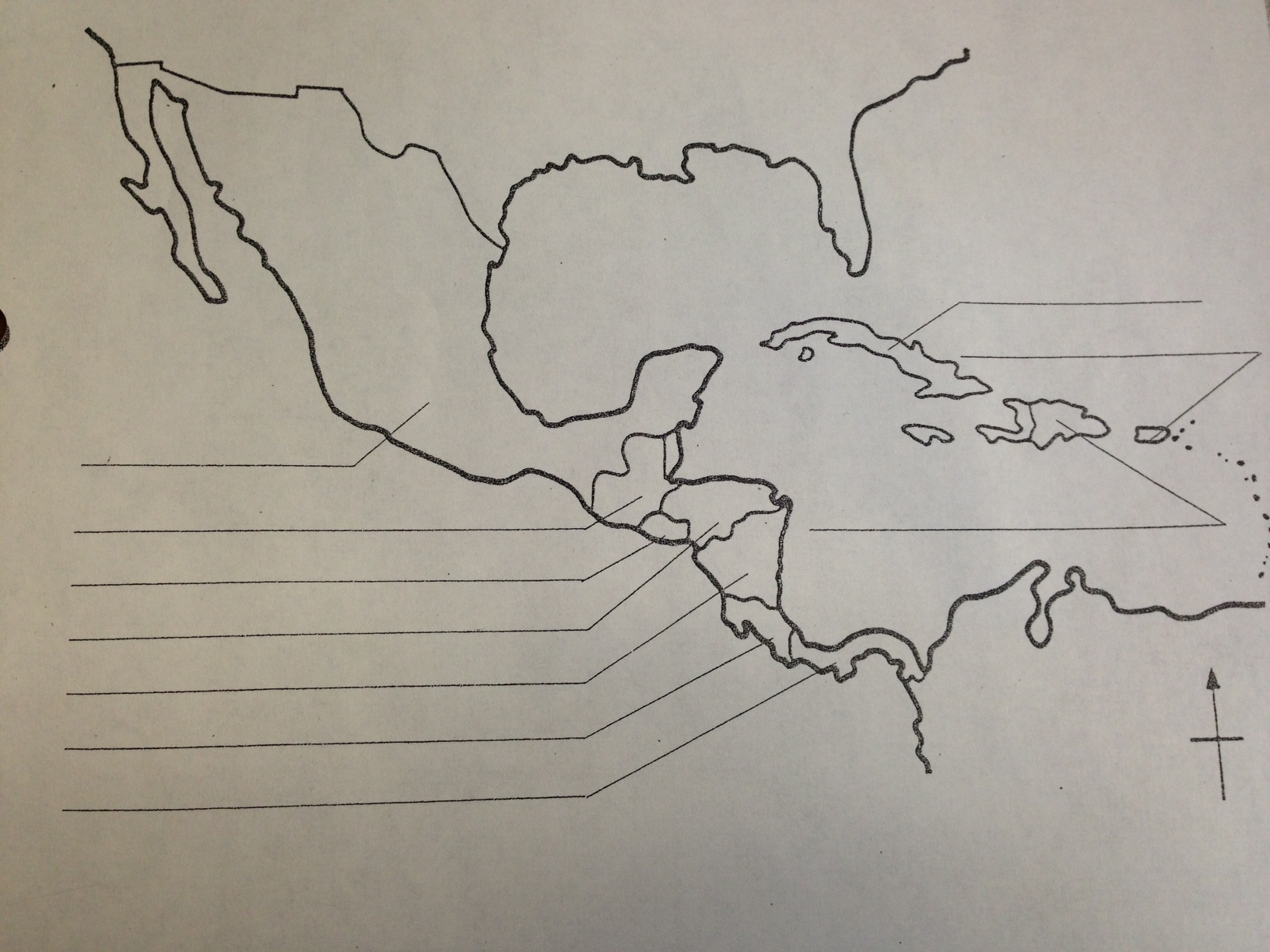 Grades 4 6 Central American Blank Map