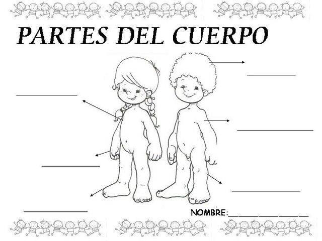 De Cuerpo Silueta Dibujos Nino Nina La Del Y De
