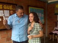 Nuestro director con María Valentina Núñez