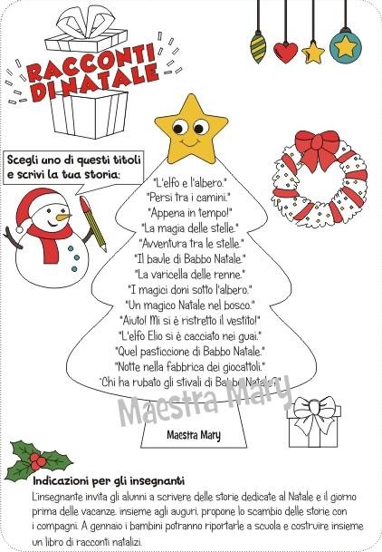 Poesie di natale per la scuola primaria. Racconti Di Natale Laboratorio Di Scrittura Maestra Mary
