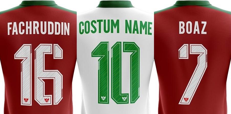 Buat jersey futsal atau baju bola dengan desain font keren ini