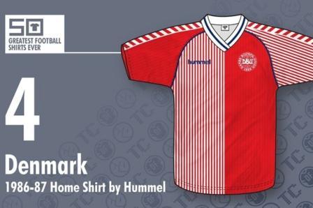 Jersey bola Denmark 1986-1987 - buat jersey futsal