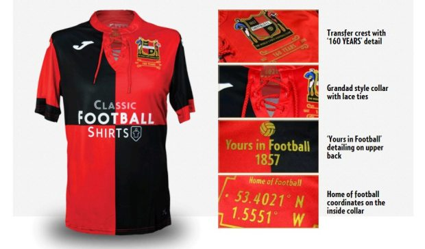 jersey sepak bola terbaru Sheffield FC