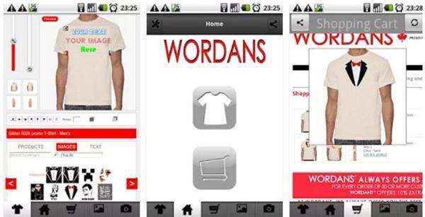 Aplikasi Desain Baju Bola dan Kaos Custom T-shirt - Wordans