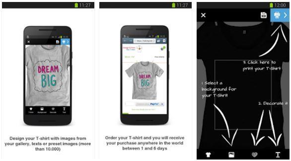 Aplikasi Desain Baju Bola Design & Get Your T-shirt