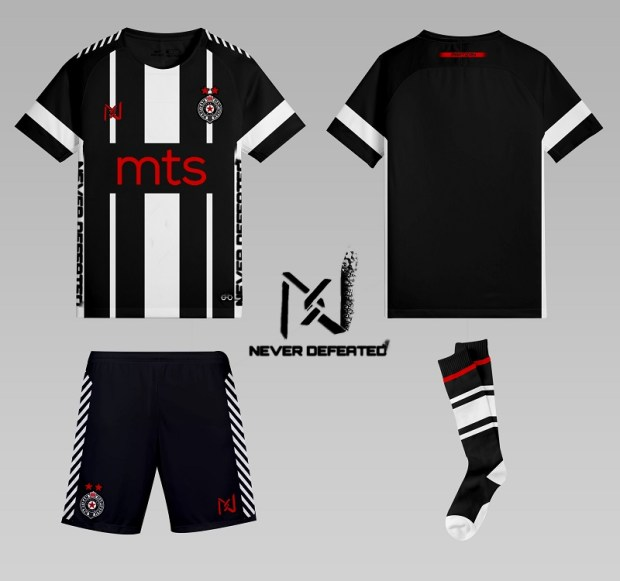 desain kostum futsal terbaik depan belakang partizan
