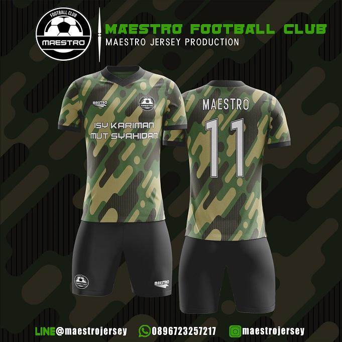 Desain Jersey Futsal Loreng Maestro FC