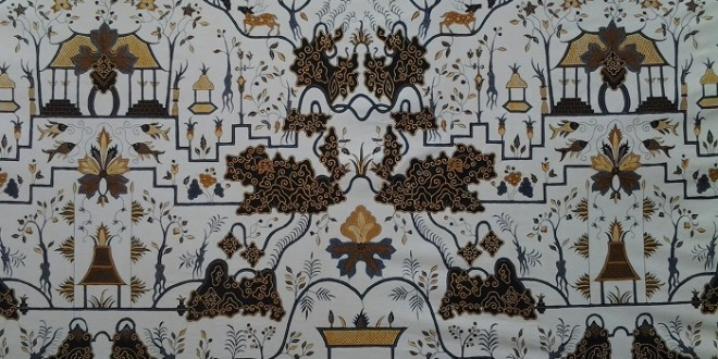 motif batik cirebon taman arum