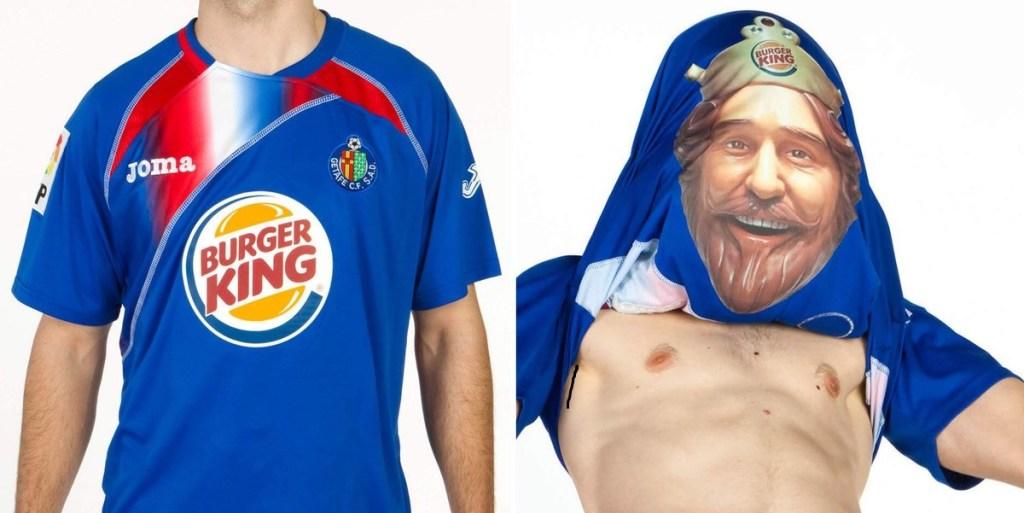 getafe dengan sponsor jersey burger king
