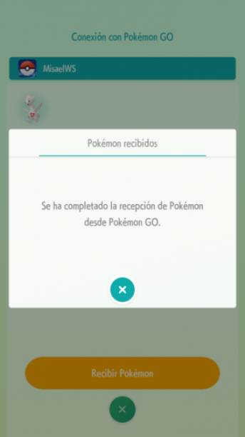 recibiendo pokemon en home