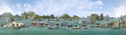 Serie: Casas flotantes de Halong