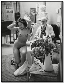 Brassai 317 Henry Matisse y modelo