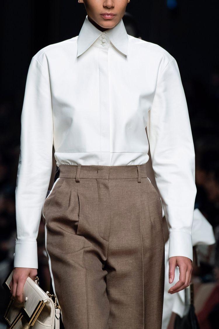 Классическая рубашка с воротником в стиле диско, Fendi
