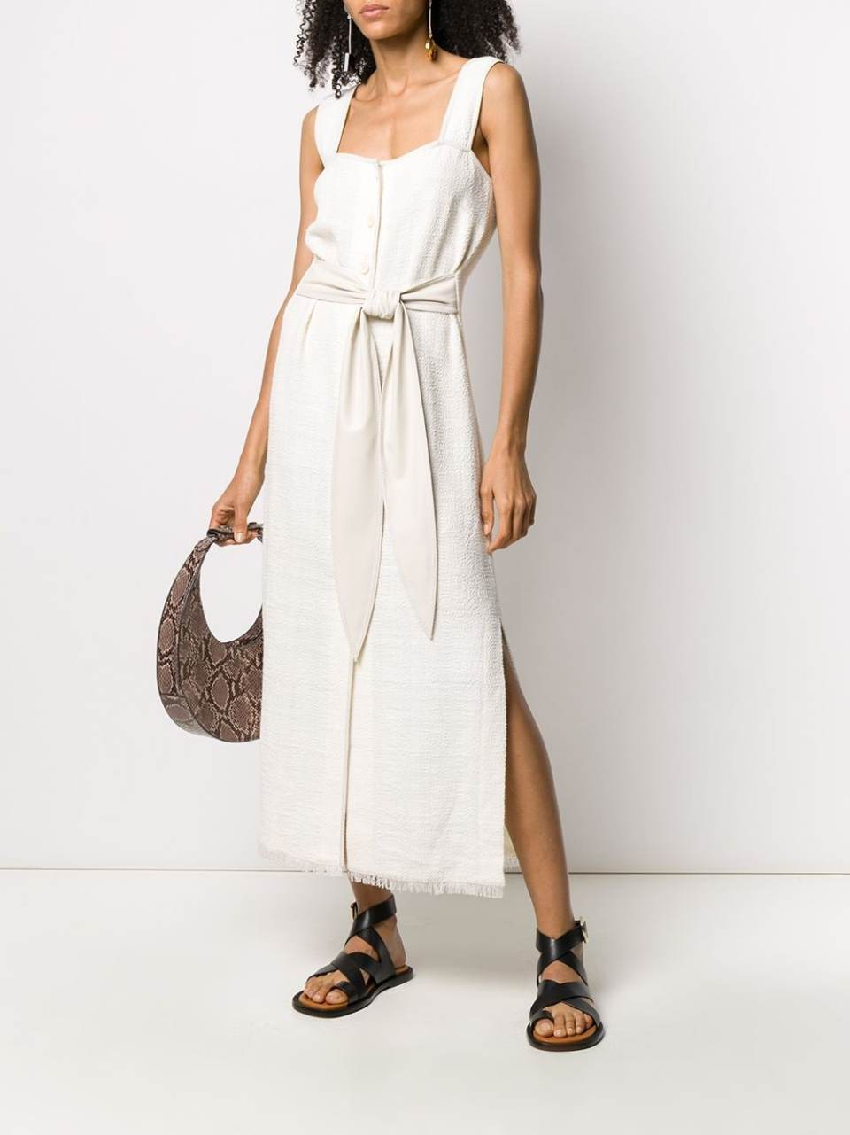 Nanushka фактурное платье с запахом
