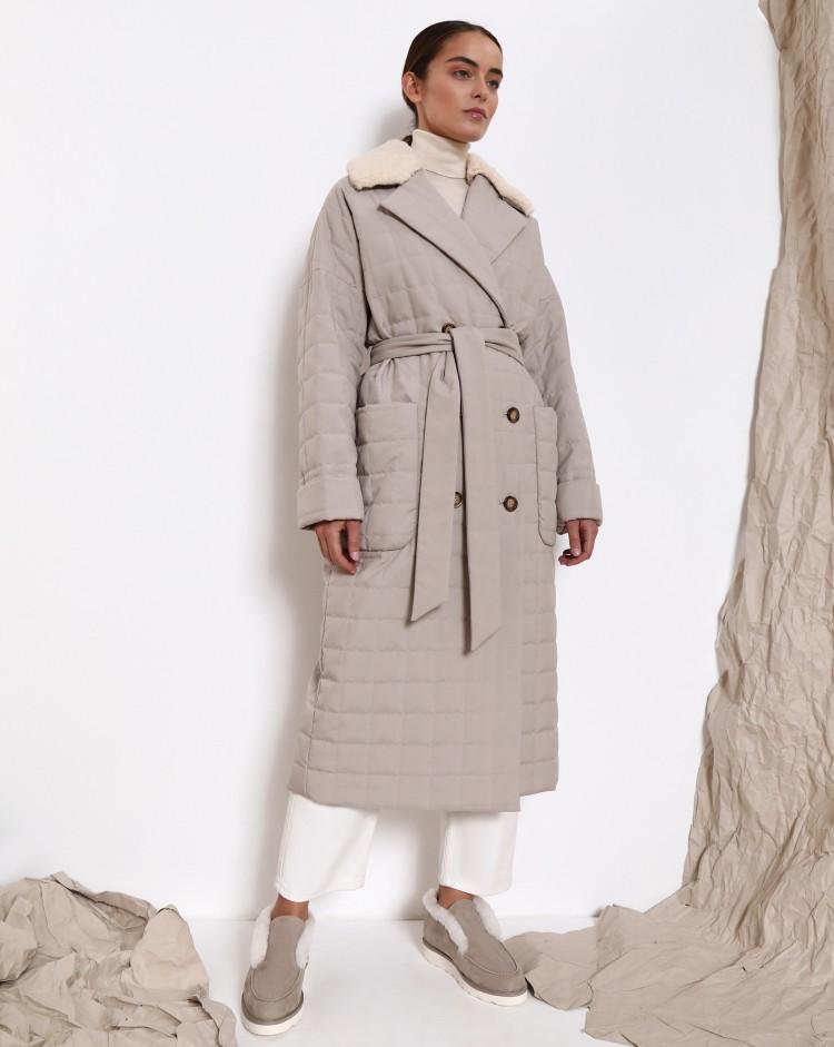 Модные стеганое пальто 12 Storeez