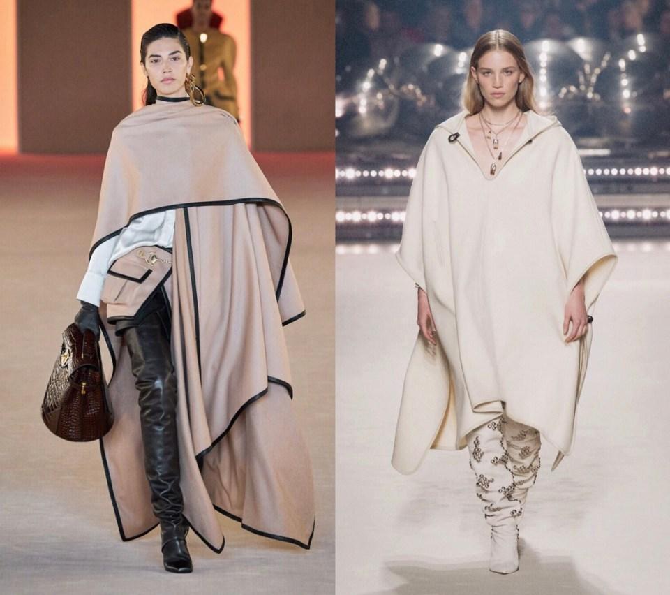кейп модный тренд осень зима 2020 2021