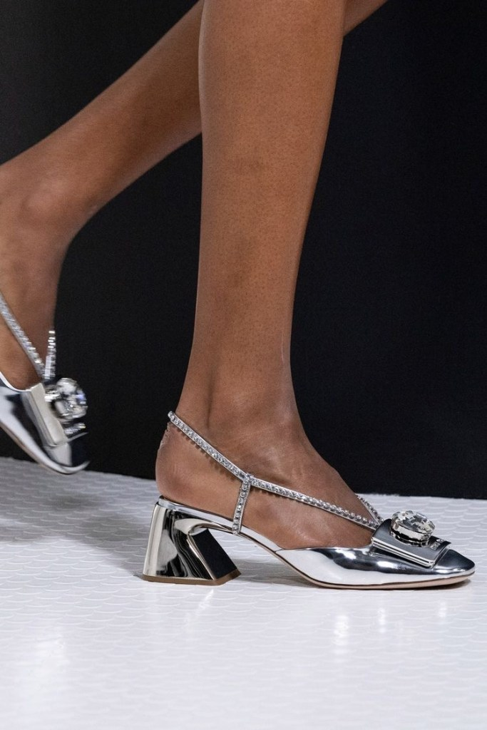 Туфли с каблуком необычной формы тренд 2021