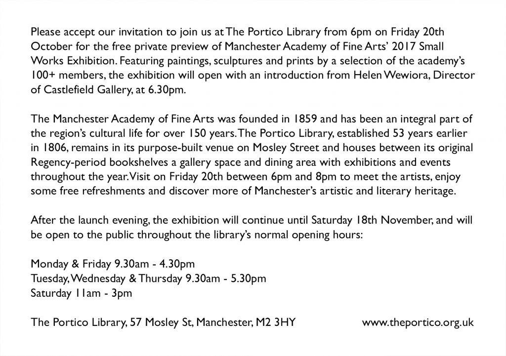Invitation to mafa small works exhibition manchester academy of mafa exhibition invite stopboris Choice Image