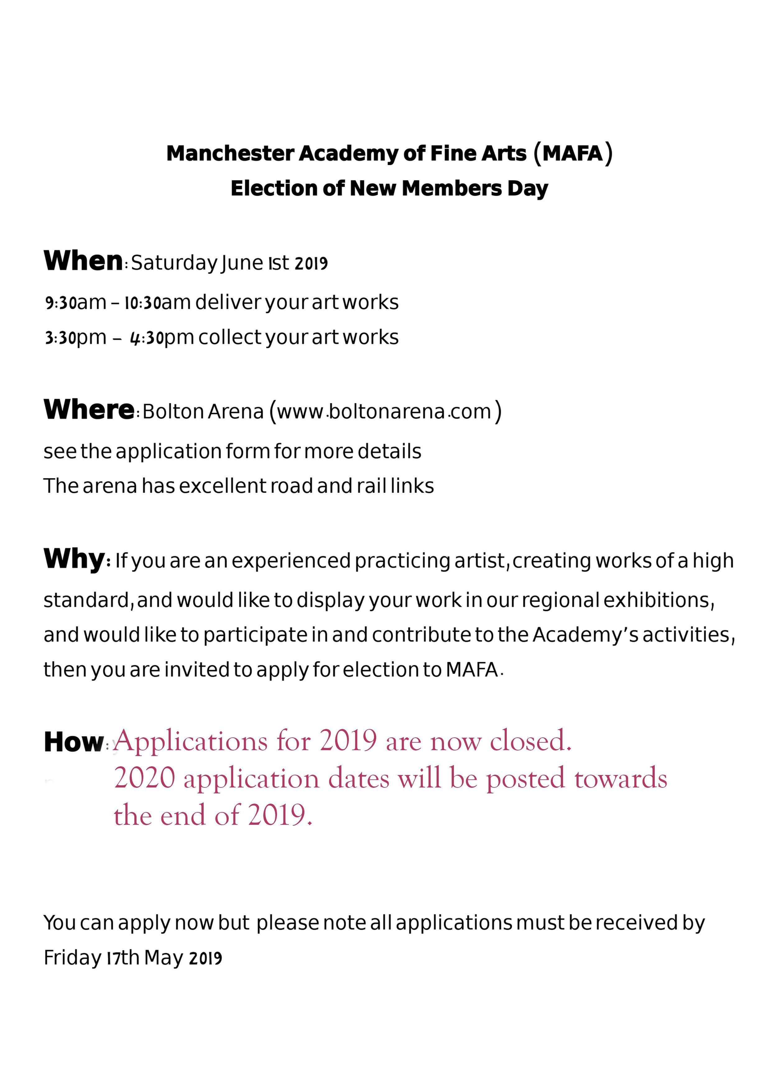 MAFA 2019 Membership Application