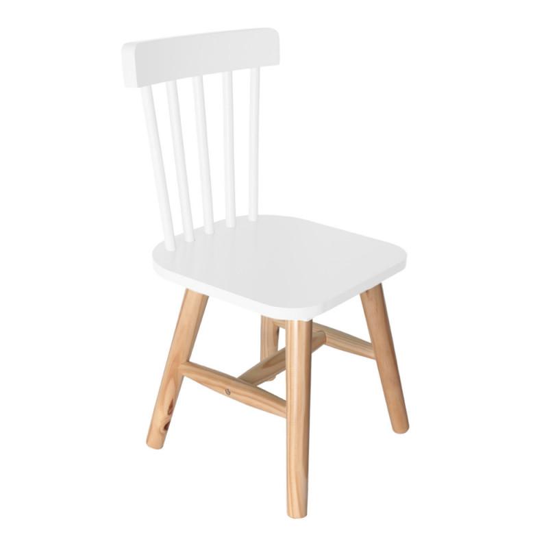 chaise bois enfant blanche