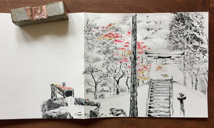 Nakasendo sketch
