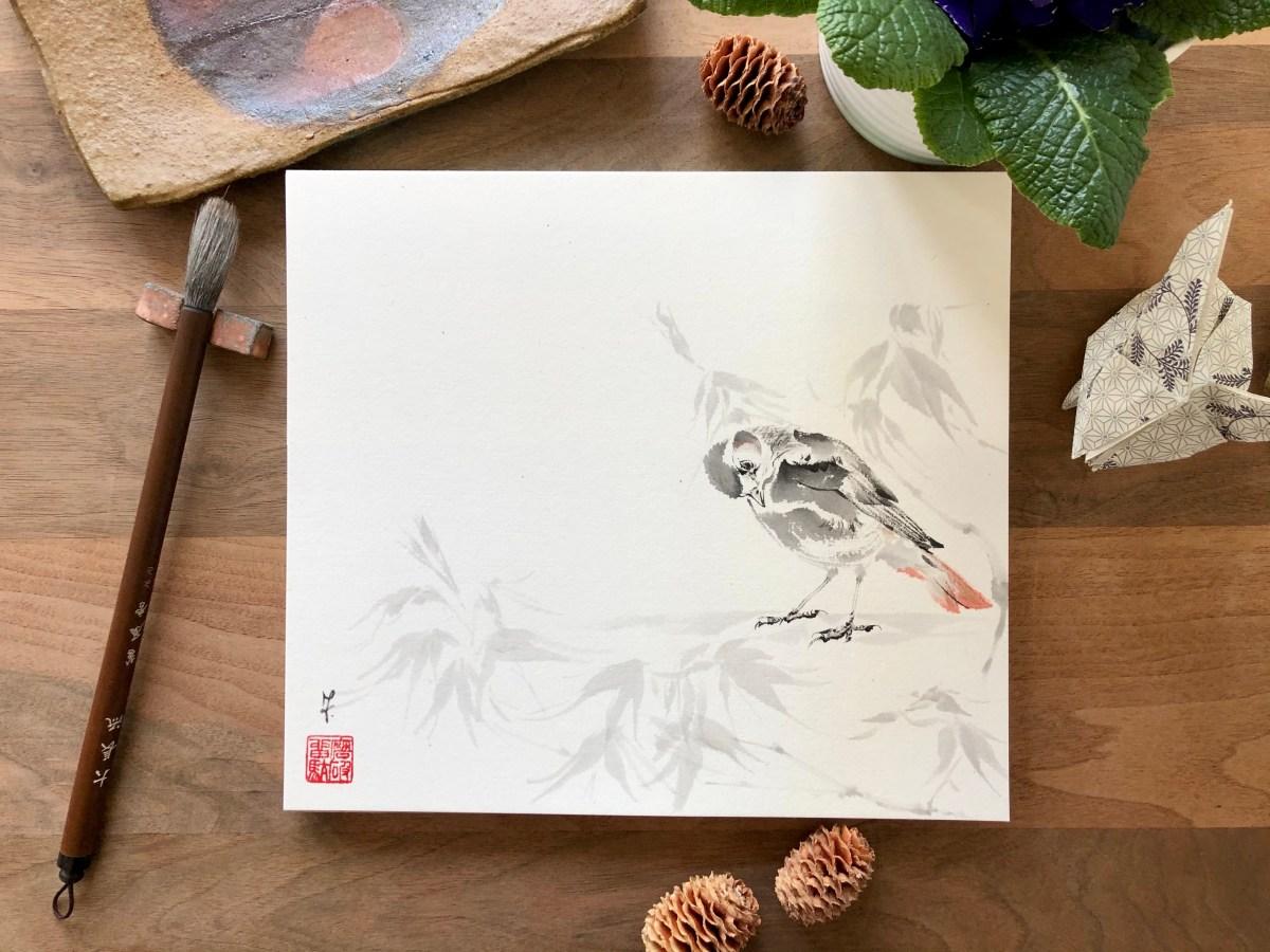 Redstart painting