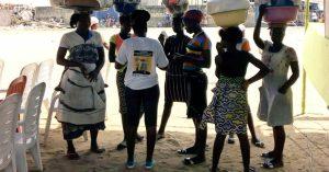 filles vendeuses ambulantes du marché Dantokpa sensibilisées par l'ABPF