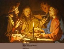 MATHIAS STOM -LE SOUPER EMMAUS