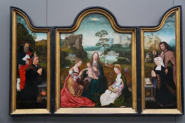 MADONA avec sainte Catherine et sainte Barbe