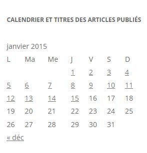calendrier des titres