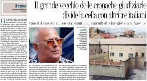 Antonio Fameli rientra in carcere