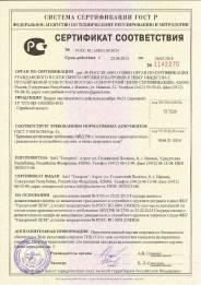 Сертификат соответствия на 10х31