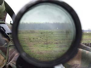 Вид через прицел ПСО-1