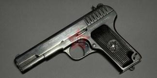 Охолощенный Пистолет ТТ 1940 года (с крупной насечкой, довоенный) №ХР1000 (ТТ-СО)