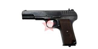 Охолощенный пистолет ТТ 1941 года Молот Армз №СЦ1255 (с Крупной насечкой)