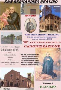 Anniversdella canonizzazione di San Bernardino Realino CorriereAl