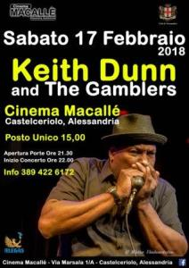 Sabato al Macallè di Castelceriolo Keith Dunn and the Gamblers in concerto CorriereAl 1