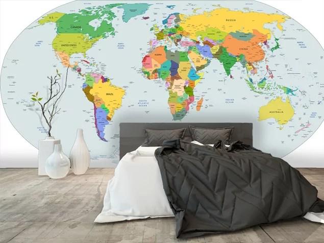 20 cartes du monde geantes a poser sur vos murs ou votre plafond mag decofinder