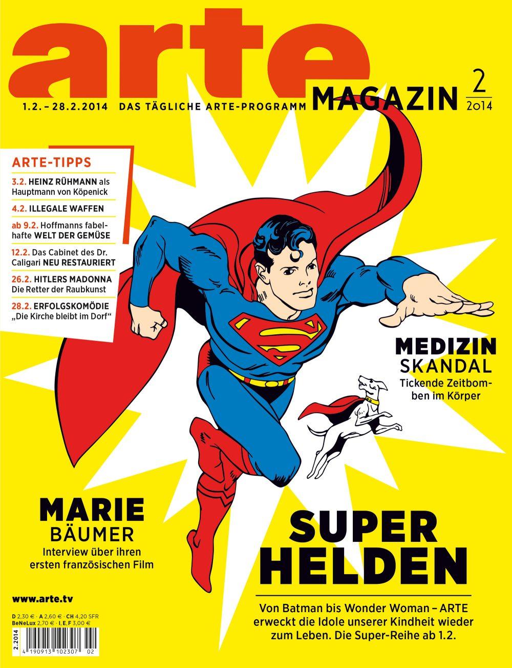Die Februar-Ausgabe des Arte-Magazins.